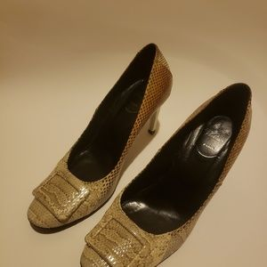 Snakeskin Buckle Pumps  Size: 10 | IT 40